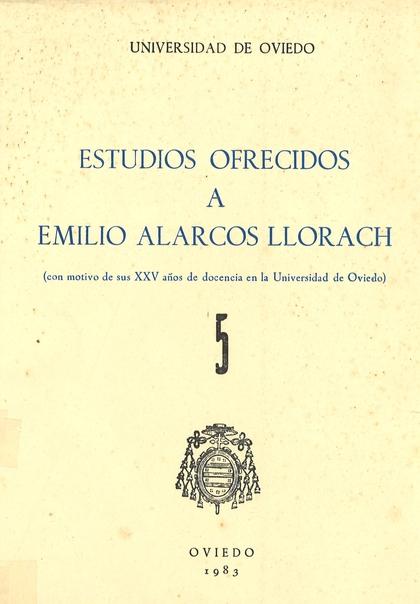 HOMENAJE A ALARCOS LLORACH. (TOMO 5)