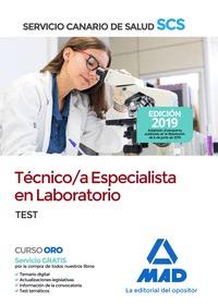 TECNICO/A ESPECIALISTA EN LABORATORIO DEL SERVICIO CANARIO DE SALUD. TEST       TEST