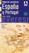 MAPA DE CARRETERAS DE ESPAÑA Y PORTUGAL E 1:1100000 : CARTOGRAFÍA DIGITAL GEORREFERENCIADA