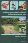 OPERACIONES BASICAS PARA INSTALACION JARDINES PARQUE Y ZONA