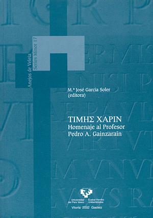 TIMHS XAPIN : HOMENAJE AL PROFESOR PEDRO A. GAINZARAIN