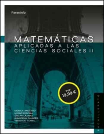 MATEMÁTICAS II PARA CIENCIAS SOCIALES. 2º BACHILLERATO (LOMCE).