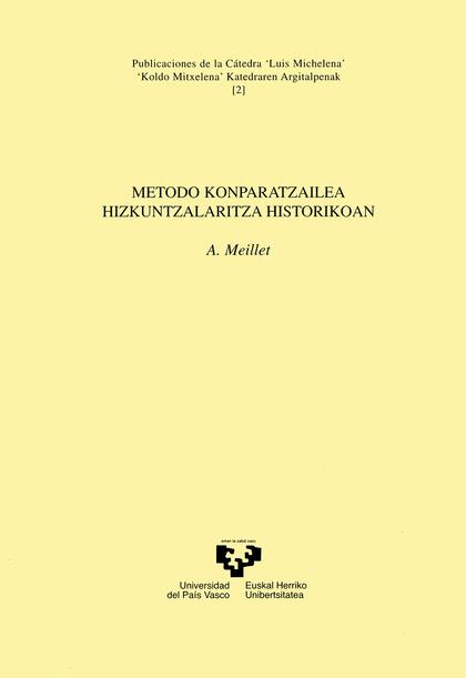 METODO KONPARATZAILEA HIZJUNTZALARITZA HISTORIKOAN