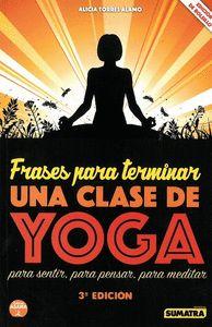 FRASES PARA TERMINAR UNA CLASE DE YOGA.