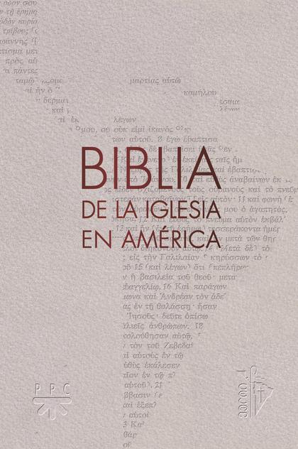 BIBLIA DE LA IGLESIA EN AMERICA.