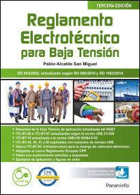 REGLAMENTO ELECTROTÉCNICO PARA BAJA TENSIÓN  3.ª EDICIÓN 2017.