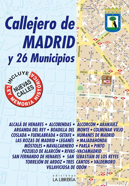 CALLEJERO DE MADRID Y 26 MUNICIPIOS.