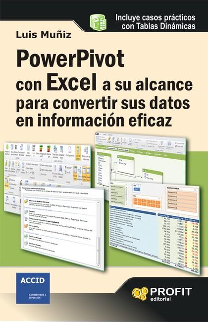 POWERPIVOT CON EXCEL A SU ALCANCE PARA CONVERTIR SUS DATOS EN INFORMACIÓN EFICAZ.