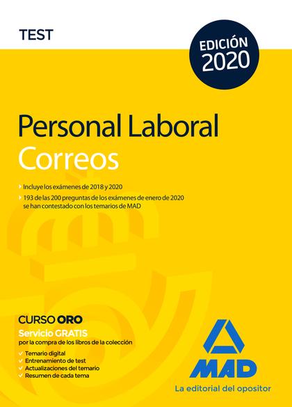PERSONAL LABORAL DE CORREOS Y TELÉGRAFOS. TEST.