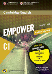 CAMBRIDGE ENGLISH EMPOWER FOR SPANISH SPEAKERS C1 LEARNING PACK (STUDENT´S BOOK.
