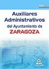 AUXILIARES ADMINISTRATIVOS, AYUNTAMIENTO DE ZARAGOZA. TEST