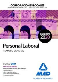 PERSONAL LABORAL DE CORPORACIONES LOCALES. TEMARIO GENERAL.