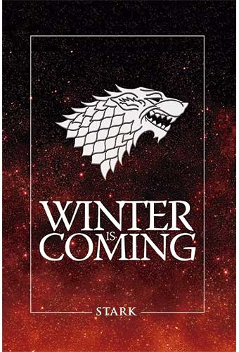 BLOC DE NOTAS GAME OF THRONES - WINTER IS COMING