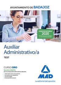 AUXILIAR ADMINISTRATIVO DEL AYUNTAMIENTO DE BADAJOZ. TEST.