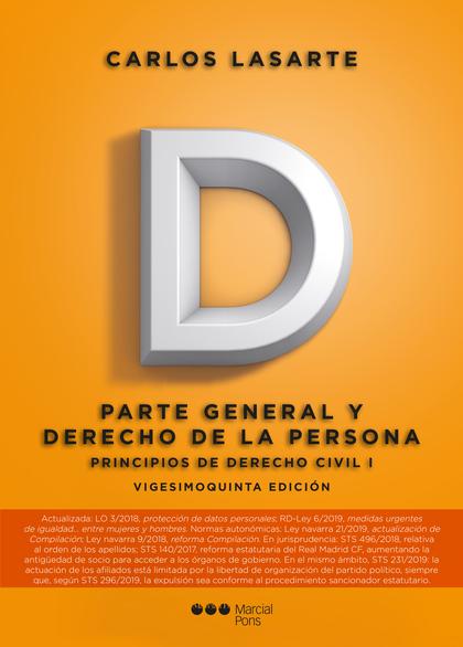 PRINCIPIOS DE DERECHO CIVIL, I 2019.