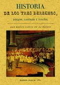 HISTORIA DE LOS TRES DERECHOS, ROMANO, CANÓNICO Y ESPAÑOL