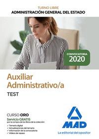 AUXILIAR ADMINISTRATIVO DE LA ADMINISTRACIÓN GENERAL DEL ESTADO. TEST.