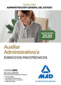 AUXILIAR ADMINISTRATIVO DE LA ADMINISTRACIÓN GENERAL DEL ESTADO. EJERCICIOS PSIC.