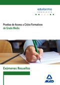 EXÁMENES RESUELTOS DE PRUEBAS DE ACCESO A CICLOS FORMATIVOS DE GRADO MEDIO : ANDALUCÍA