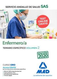 ENFERMERO/A DEL SERVICIO ANDALUZ DE SALUD. TEMARIO ESPECÍFICA VOLUMEN 2.