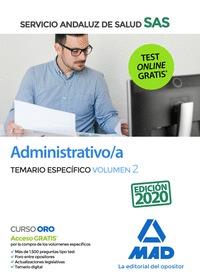 ADMINISTRATIVO/A SAS TEMARIO ESPECIFICO VOLUMEN 2