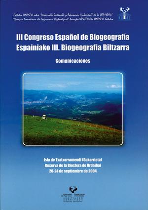 COMUNICACIONES: II CONGRESO ESPAÑOL DE BIOGEOGRAFÍA, ISLA DE TXATXARRA