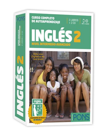 CURSO PONS INGLÉS 2 (NIVEL B1) - 2 LIBROS + 2 CD + PASATIEMPOS.