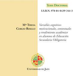 VARIABLES COGNITIVO-MOTIVACIONALES, CONTEXTUALES Y RENDIMIENTO ACADÉMICO EN ALUMNOS DE EDUCACIÓ