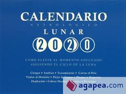 CALENDARIO ASTROLÓGICO LUNAR 2020.