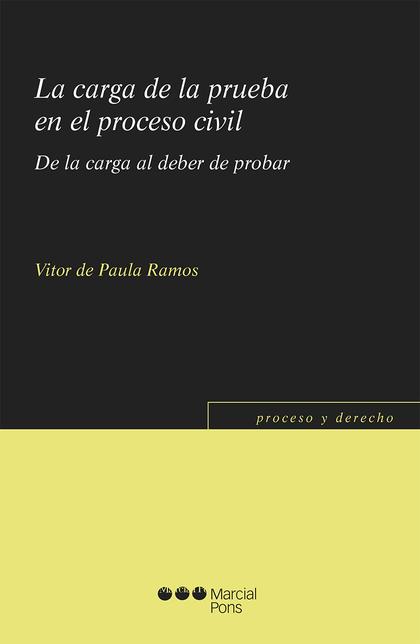 CARGA DE LA PRUEBA EN EL PROCESO CIVIL.