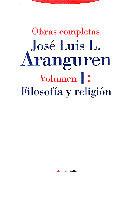 FILOSOFIA RELIGION OBRAS COMPLETAS ARANGUREN V.I
