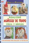 REALIZAR MUÑECOS DE TRAPO FÁCIL Y RÁPIDO
