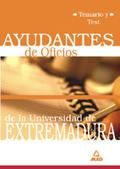 AYUDANTES DE OFICIOS, UNIVERSIDAD DE EXTREMADURA. TEMARIO Y TEST