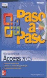 MICROSOFT OFFICE ACCESS 2003 PASO A PASO