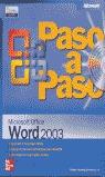 MICROSOFT OFFICE 2003 PASO A PASO