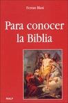 PARA CONOCER LA BIBLIA