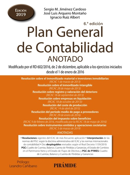 PLAN GENERAL DE CONTABILIDAD ANOTADO. MODIFICADO