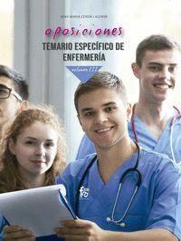 OPOSICIONES.TEMARIO ESPECIFICO DE ENFERMERIA.VOLUMEN III