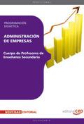 CUERPO DE PROFESORES DE ENSEÑANZA SECUNDARIA. ADMINISTRACIÓN DE EMPRESAS (ADE).. CUERPO PROFESO