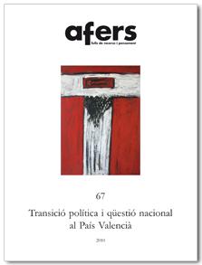 TRANSICIÓ POLÍTICA I QËSTIÓ NACIONAL AL PAÍS VALENCIÀ