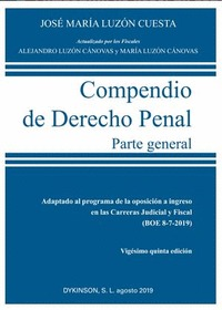 COMPENDIO DE DERECHO PENAL. PARTE GENERAL. 2019