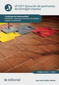 Ejecución de pavimentos de hormigón impreso. EOCB0209