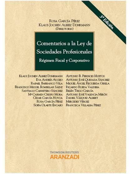 COMENTARIOS A LA LEY DE SOCIEDADES PROFESIONALES