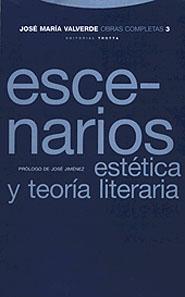 ESCENARIOS ESTETICA TEORIA LITERARIA OBRAS COMPLETAS 3