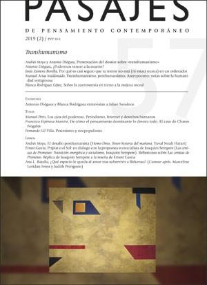 TRANSHUMANISMO                                                                  PASAJES, 57