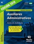 AUXILIARES ADMINISTRATIVOS DE LA JUNTA DE ANDALUCÍA. TEMARIO VOLUMEN 1.
