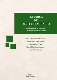ESTUDIOS DE DERECHO AGRARIO.