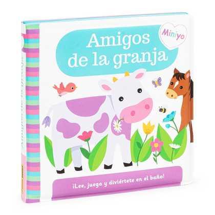 LIBRO BAÑO AMIGOS DE GRANJA LEE Y JUEGA.