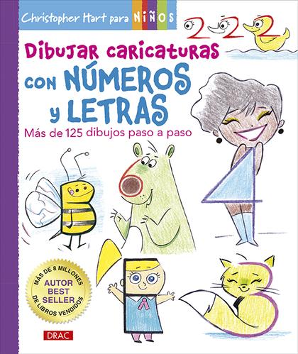 DIBUJAR CARICATURAS CON NÚMEROS Y LETRAS                                        MÁS DE 125 DIBU