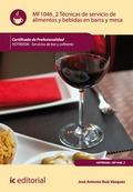 Técnicas de servicio de alimentos y bebidas en barra y mesa. HOTR0508